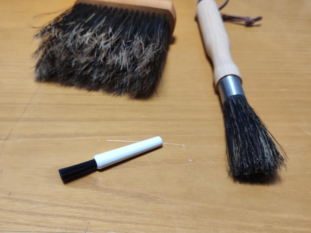 キーボードの掃除には獣毛ブラシ