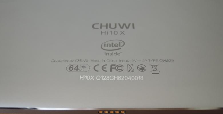 CHUWI Hi10 X レビュー 背面
