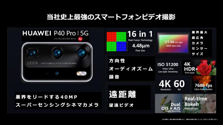 P40 Proカメラスペック