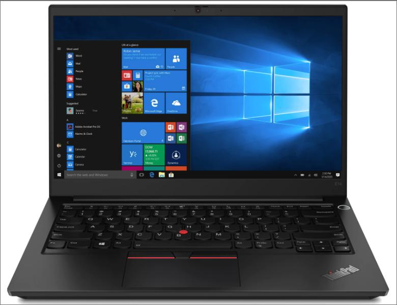ThinkPad E14 Gen2のディスプレイの画像