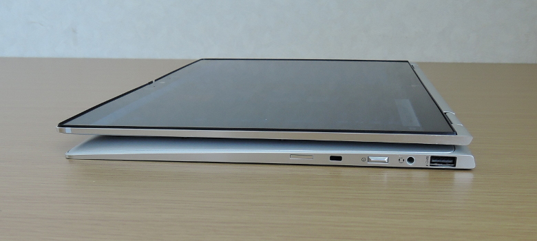 HP Elitebook X360 1040 G6 タブレットモード側面