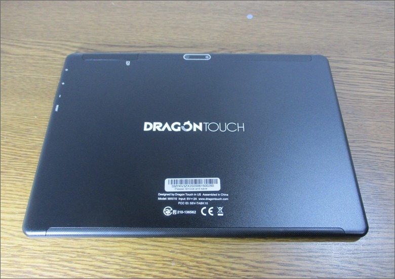 Dragon Touch MAX10 背面