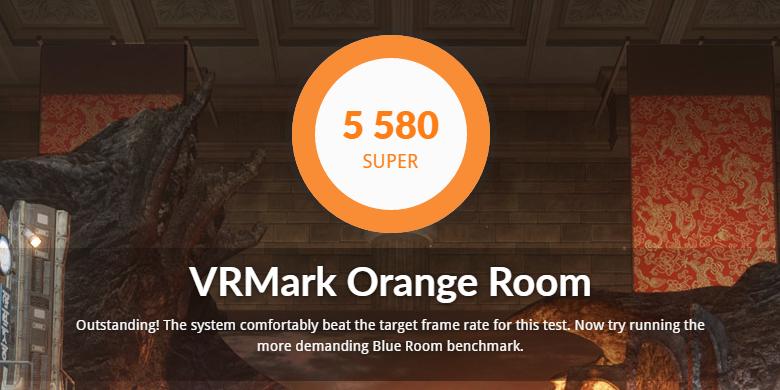 VRMarkベンチの結果