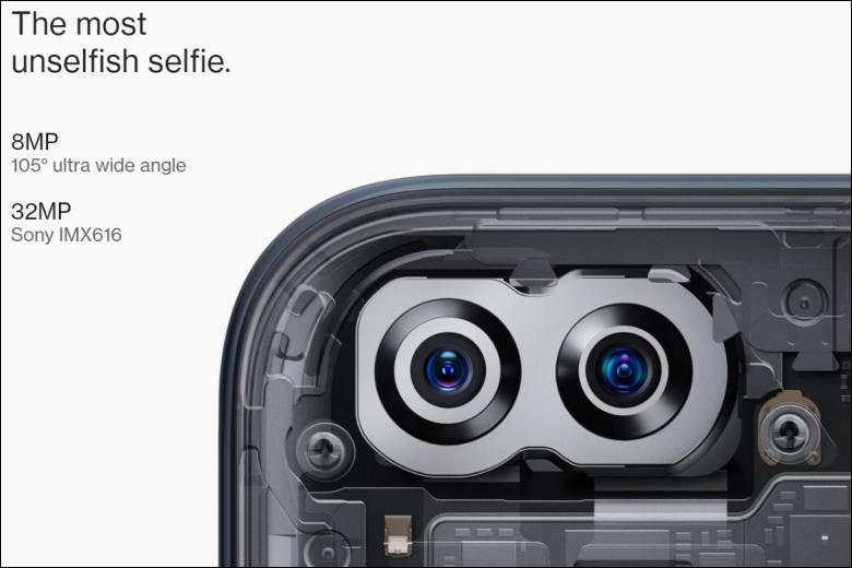 フロントカメラの内部画像