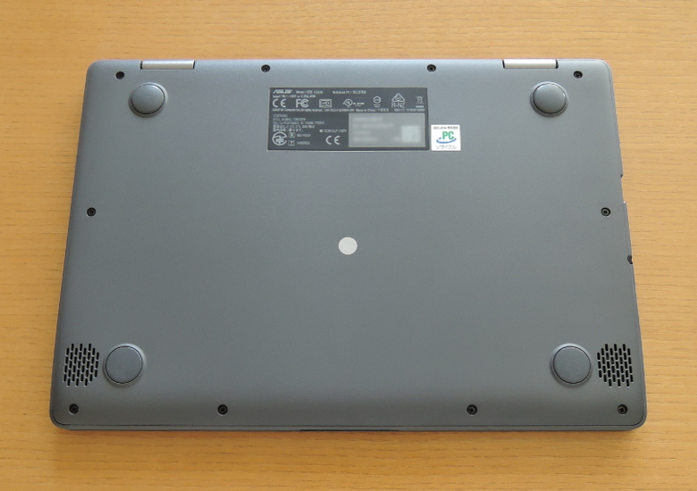 ASUS Chromebook C223NA 底面