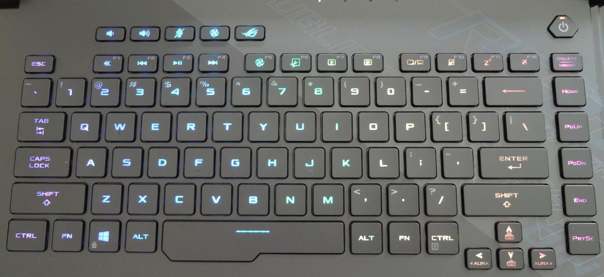 ASUS ROG Strix Scar 15 G532LWS キーボード