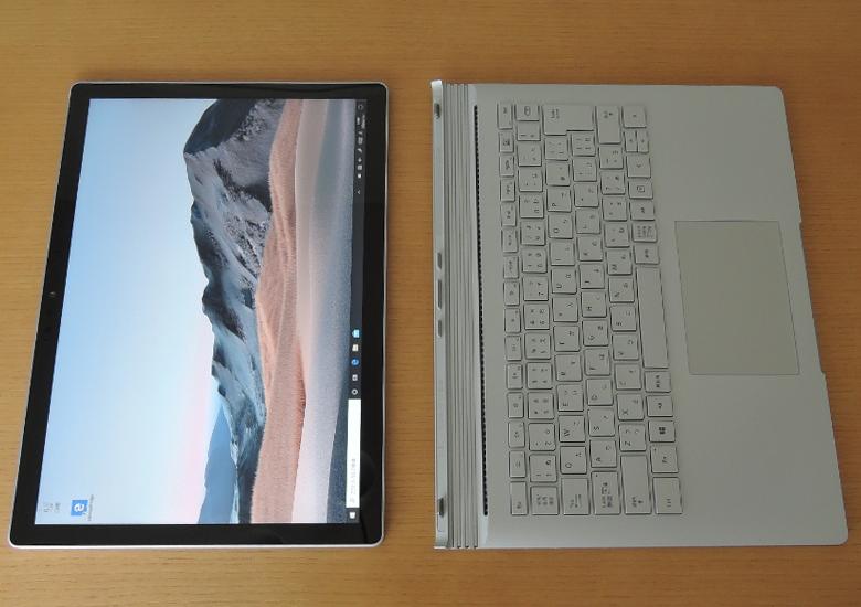 Microsoft Surface Book 3 キーボード分離