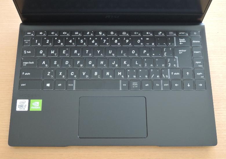 MSI Modern 14 B10R キーボード