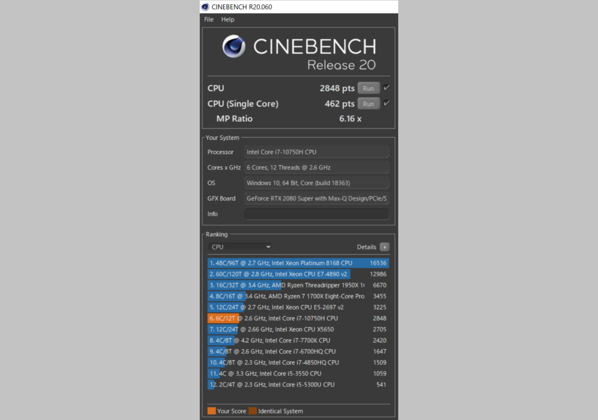 cinebenchの画像