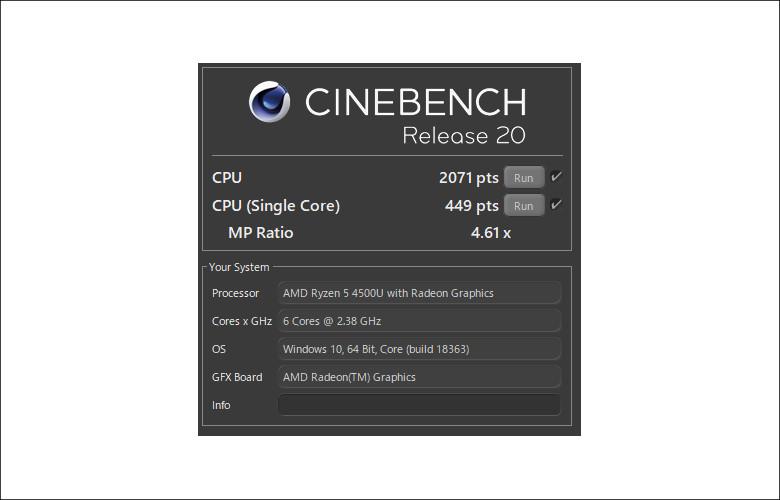 HP ENVY 15-ee0000 CINEBENCH