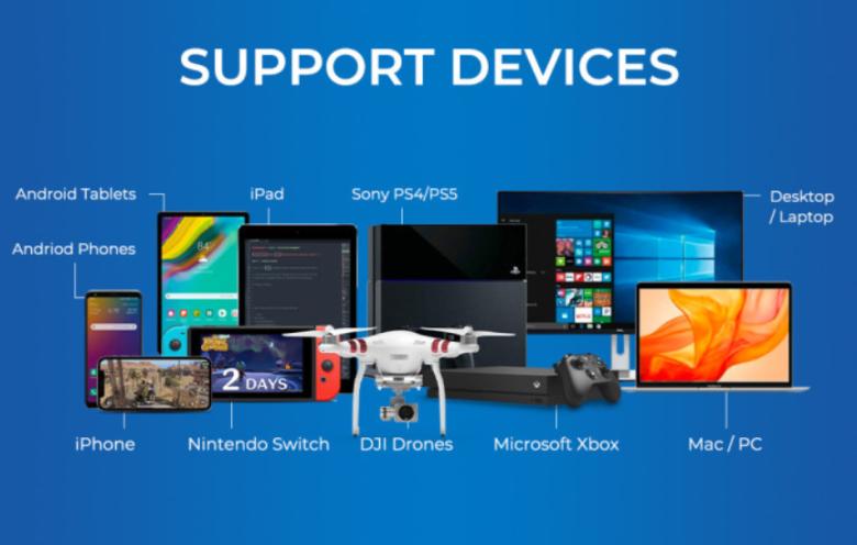 様々なデバイスと接続可能