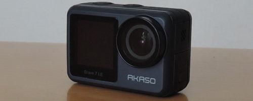 AKASO Brave 7 LEの実機レビュー - サブディスプレイのついたアクションカメラ。GoProよりもずっと安価で高画質