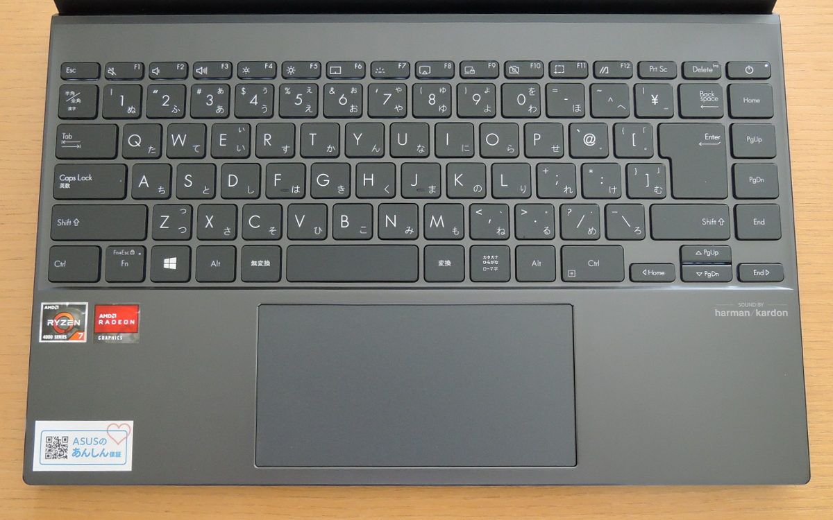 ASUS ZenBook 14 UM425I キーボード