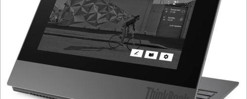 Lenovo ThinkBook Plus - 天板にE-inkディスプレイを搭載するモバイルノート