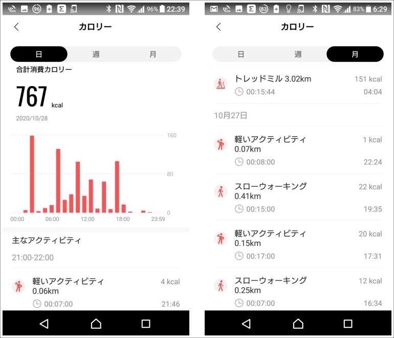 AmazfitBand5_Zeppアプリ-消費カロリー