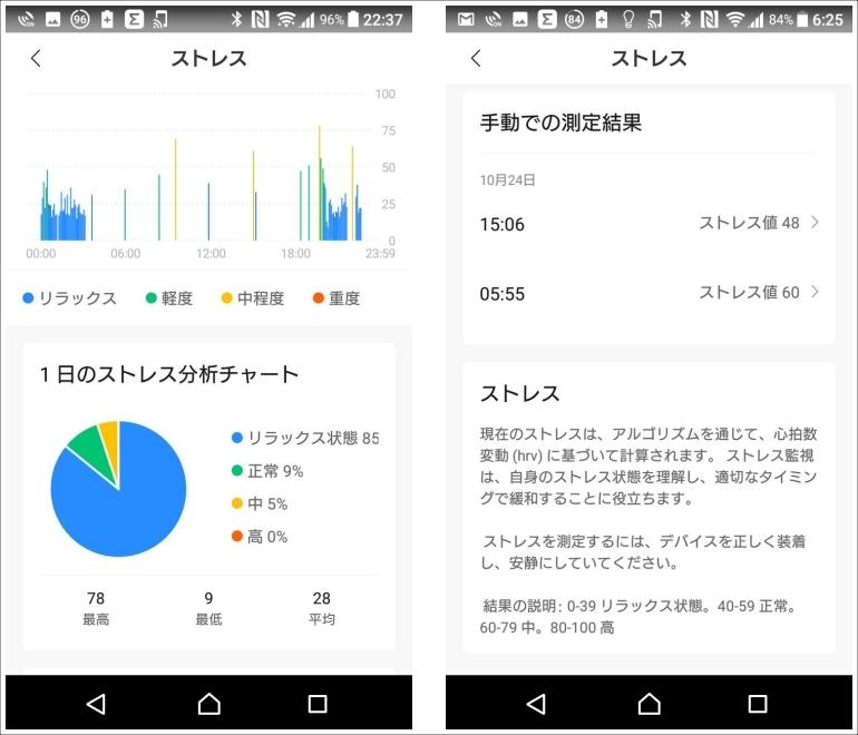 AmazfitBand5_Zeppアプリ-ストレス測定