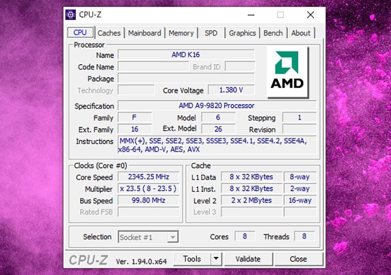 CPU-Zの画像