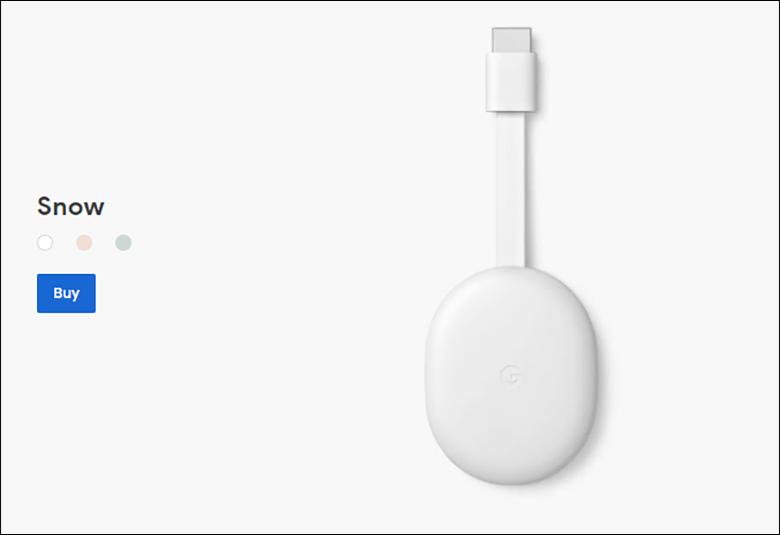 Chromecastの本体画像