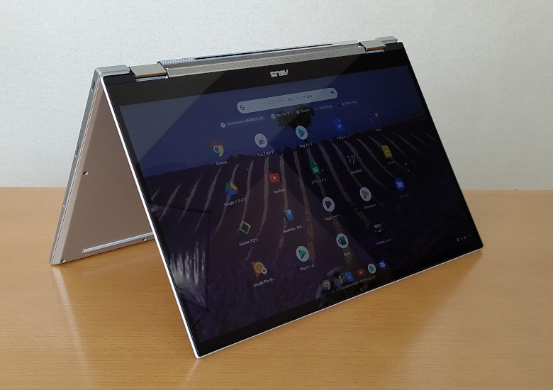 ASUS Chromebook Flip C436FA テントモード