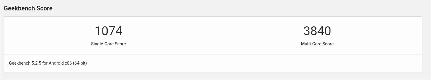ASUS Chromebook Flip C436FA GEEKBENCH 5