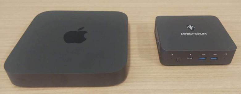 Minisforum X35G Mac Miniとの比較