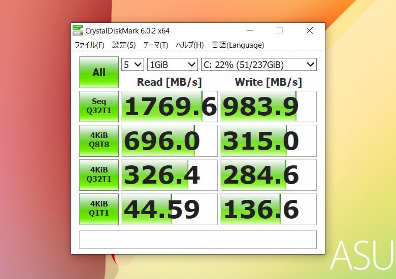 ASUS VivoBook 15 K513EA Crystal Disk Mark