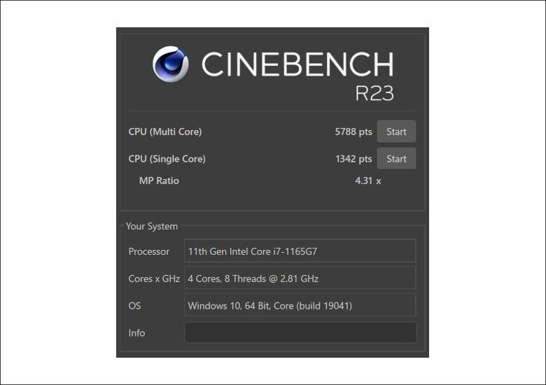 ASUS VivoBook 15 K513EA CINEBENCH R23