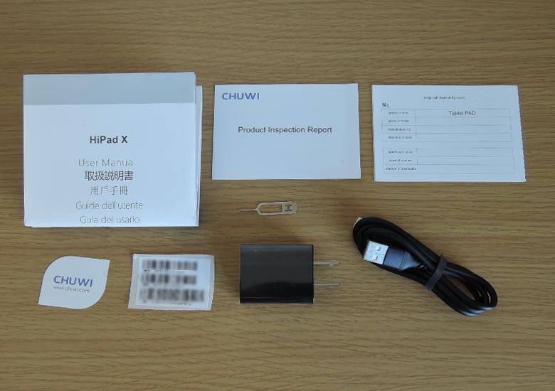 CHUWI HiPad X 同梱物