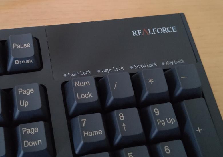 東プレ REALFORCE / R2-JP4-BK キーボード右上