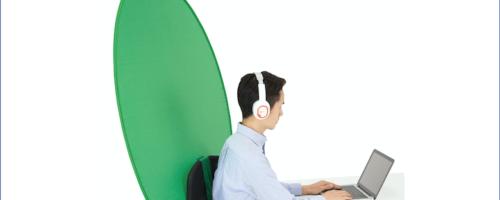 エレコム PCA-CKSF01GN - 椅子に設置するグリーンバック。顧客とWebミーティングするなら持っておきたい