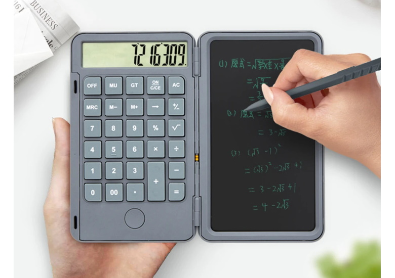 calculator with lcd tablet