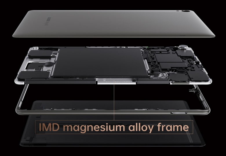 ALLDOCUBE iPlay40のマグネシウムフレーム