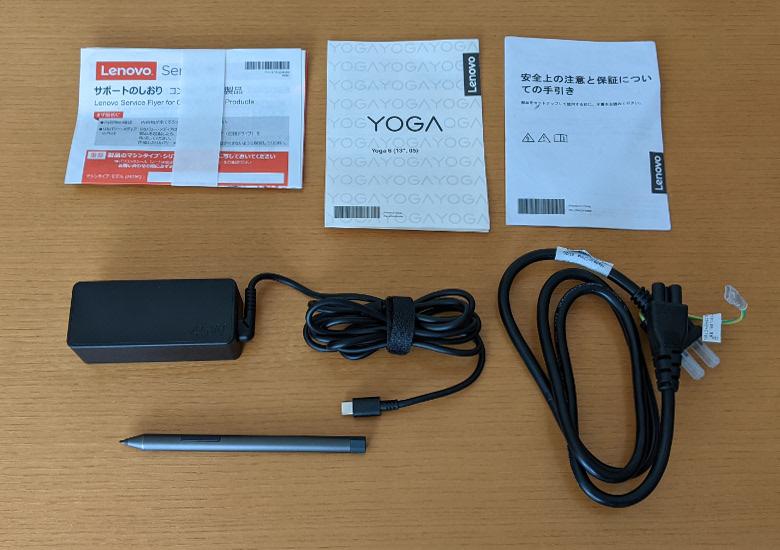 Lenovo Yoga 650 同梱物