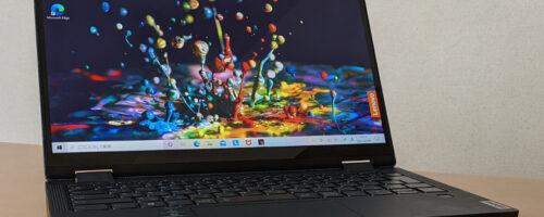 Lenovo Yoga 650 (AMD)の実機レビュー - 天板がファブリック張り!高いパフォーマンスでフレキシブルな使い方ができる、軽快な13.3インチコンバーチブル2 in 1