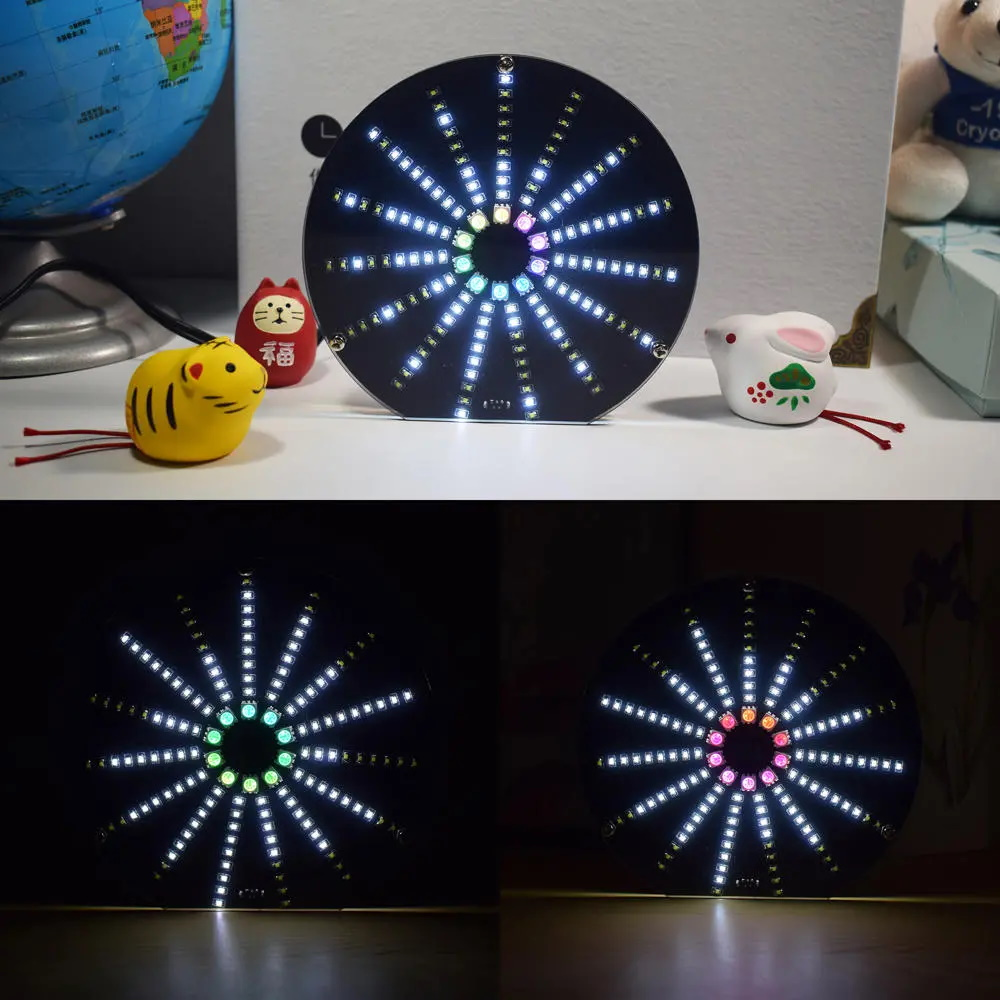 Geekcreit LED Circular Audio Visualizer Music Spectrum Display