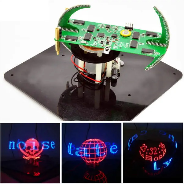 Geekcreit Biaxial Spherical Rotating DIY LED Flash Kit