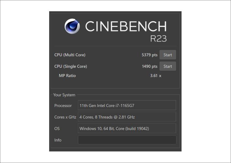 dynabook FZ/HP CINEBENCH R23