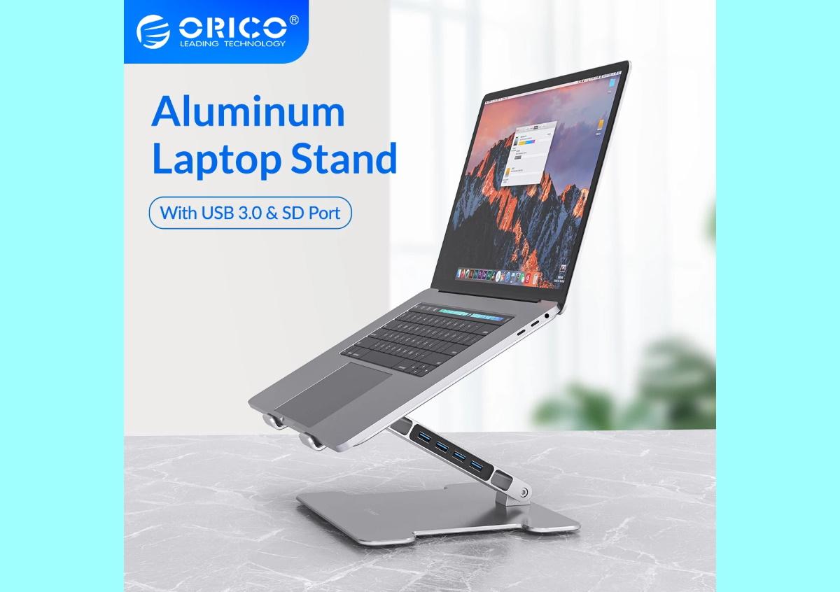 orico_laptop stand_usb hub