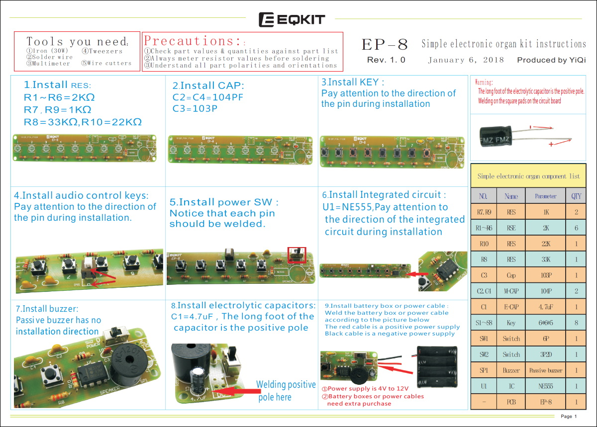 electronic keyboard_manual