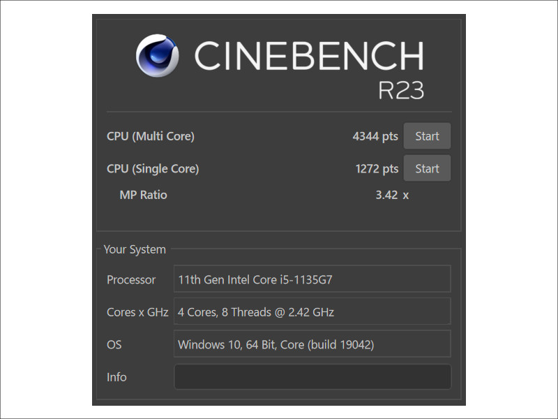 Microsoft Surface Laptop 4 CINEBENCH R23