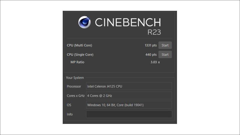 GMK NucBox CINEBENCH R23