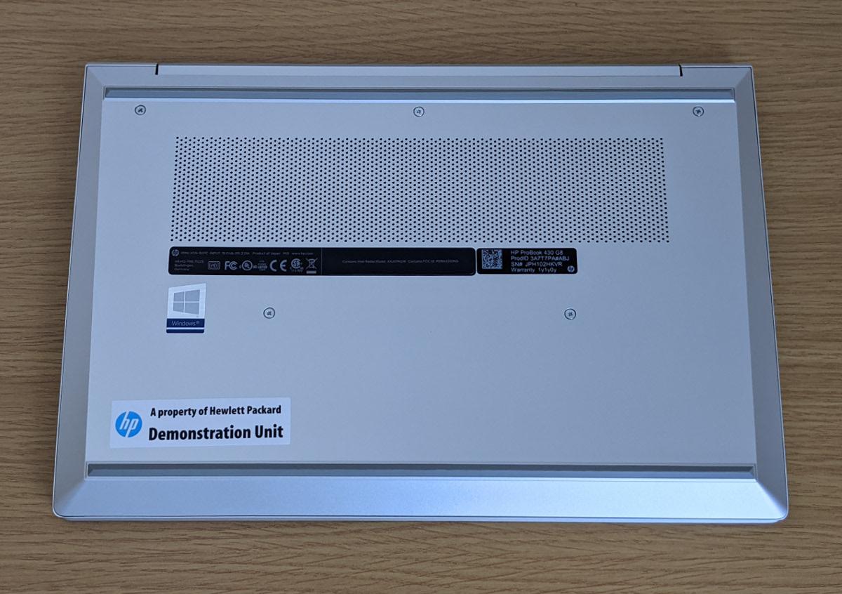 HP ProBook 430 G8 底面