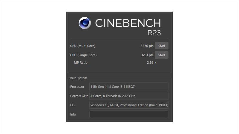 HP ProBook 430 G8 CINEBENCH R23