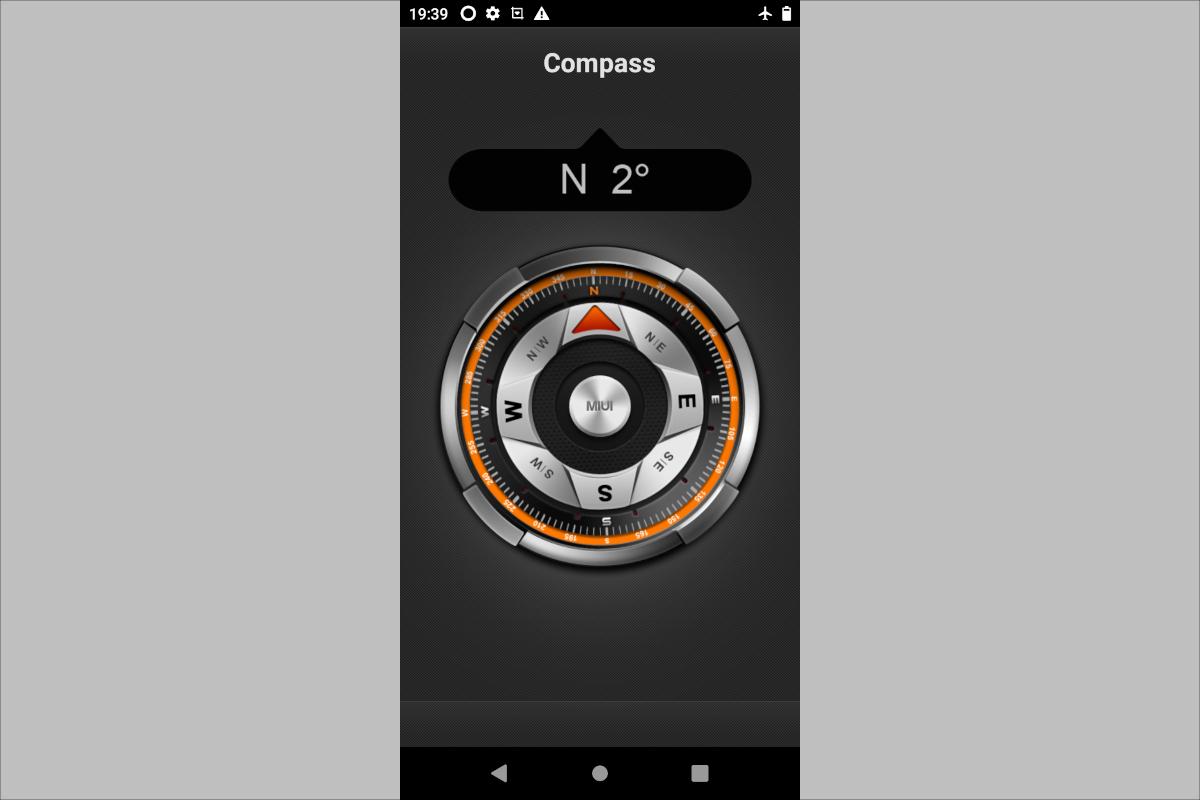 コンパスアプリ