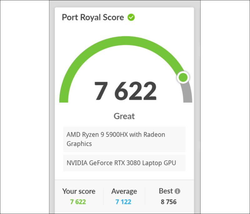 Lenovo Legion 760 3D Mark Port Royal