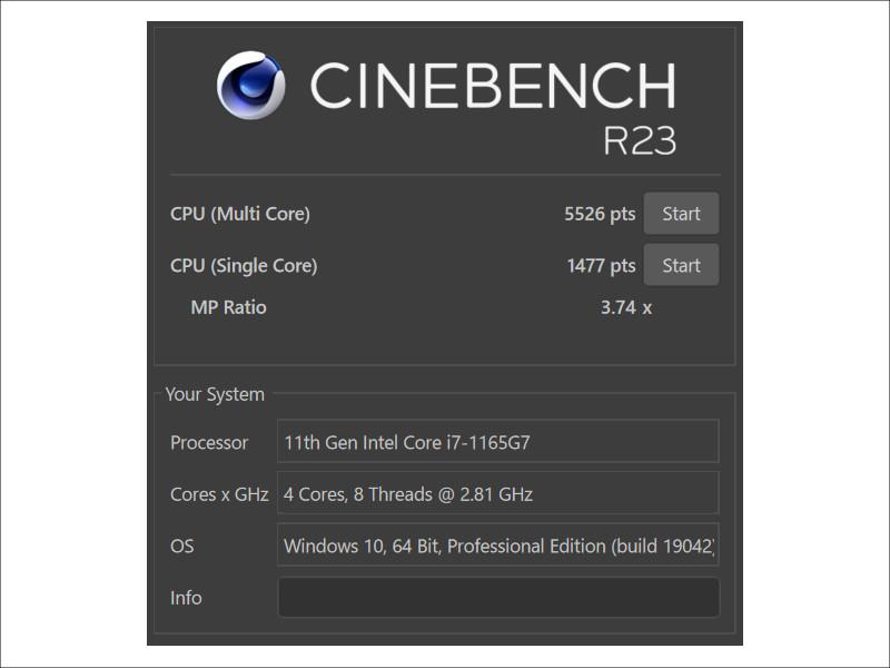 dynabook MZ/HS CINEBENCH R23