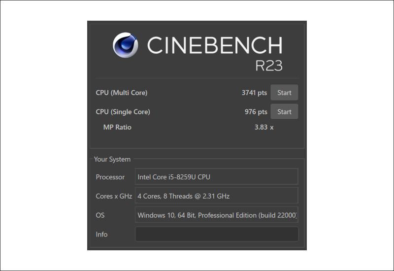 Teclast Tbolt 20 Pro CINEBENCH R23